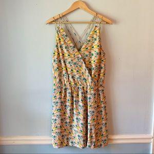 GREYLIN 100% Silk Strappy Mini Dress With Pockets!